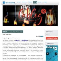 Social learning et Entreprise 2.0