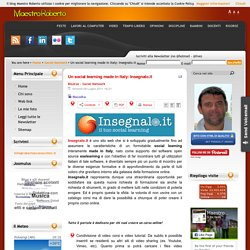Un social learning made in Italy: Insegnalo.it