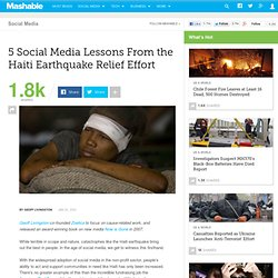 5 Social Media Lessons From the Haiti Earthquake Relief Effort