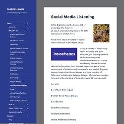 Social Media Listening - InsideHeads