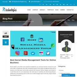 Best Social Media Management Tools for Online Business