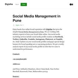Social Media Management in Pune - Digisha - Medium