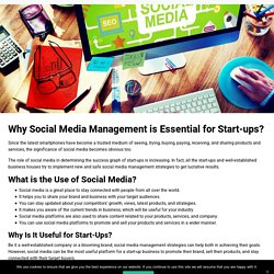 Why Social Media Management is Essential for Start-ups?