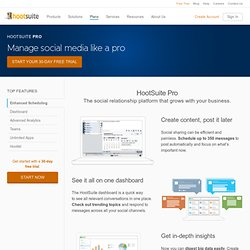 Social Media Dashboard for Teams using Twitter, Facebook, Linkedin