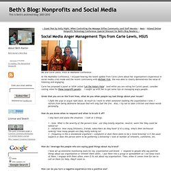 Beth's Blog: How Nonprofits Can Use Social Media: Social Me