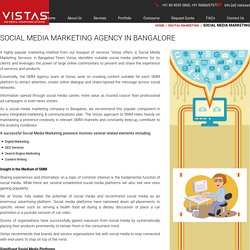 Social Media Marketing (SMM) Agency in Bangalore - Vistas