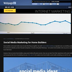Social Media Marketing for Home Builders