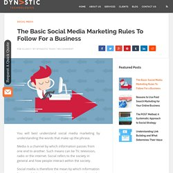 Basic Social Media Marketing Rules To Follow For a Business