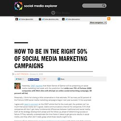 How to Be in the Right 50% of Social Media Marketing Campaigns