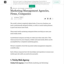 Top 5 Best Social Media Marketing Agency, Companies in 2020