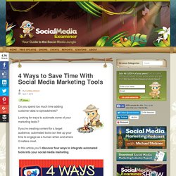 4 Ways to Save Time With Social Media Marketing Tools : Social Media Examiner