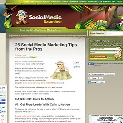 26 Social Media Marketing Tips from the Pros