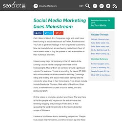 Social Media Marketing Goes Mainstream