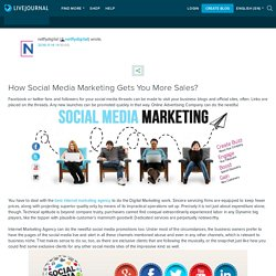 How Social Media Marketing Gets You More Sales?: netflydigital