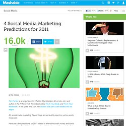 4 Social Media Marketing Predictions for 2011