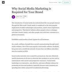 Why Social Media Marketing is Required for Your Brand