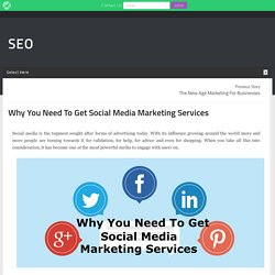 Why You Need To Get Social Media Marketing Services