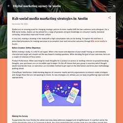 B2b social media marketing strategies in Austin