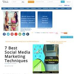 7 Best Social Media Marketing Techniques