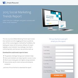 2015 Social Marketing Trends Report