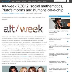 Alt-week 7.28.12: social mathematics, Pluto's moons and humans-on-a-chip