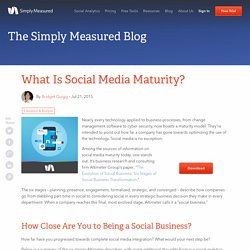 What Is Social Media Maturity?