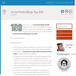 Social Media Blogs Top 200