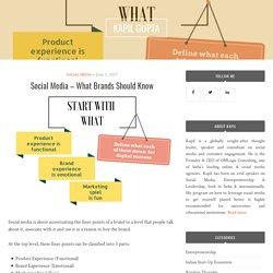 Social Media – What Brands Should Know – KAPIL GUPTA
