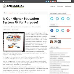 Is Our Higher Education System Fit for Purpose? | Energise 2-0
