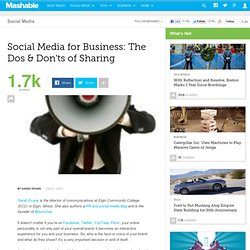 Social Media for Business: The Dos & Don'ts of Sharing