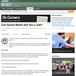 Can Social Media Get You a Job?