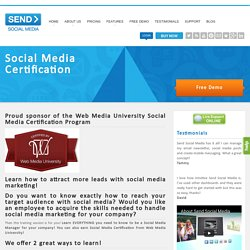 Social Media Marketing Certification