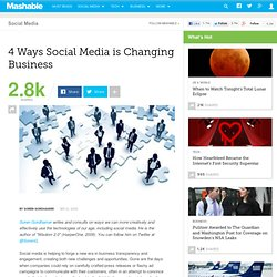 4 Ways Social Media is Changing Business