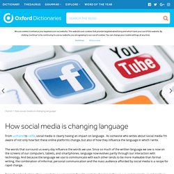 How social media is changing language
