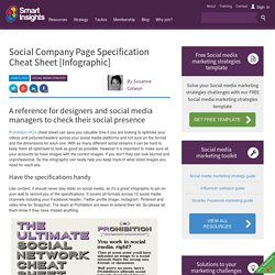 Social Media Company Page Cheat Sheet- Smart Insights