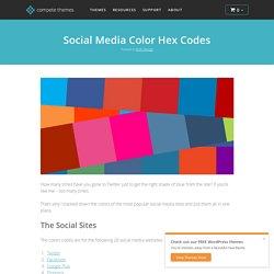 Social Media Color Hex Codes