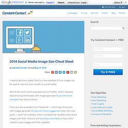 2014 Social Media Image Size Cheat Sheet