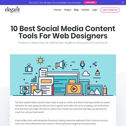 10 Best Social Media Content Tools For Web Designers