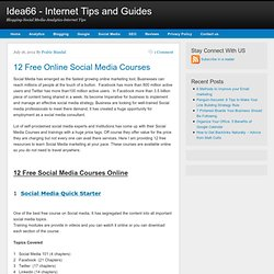 12 Free Social Media Courses Online