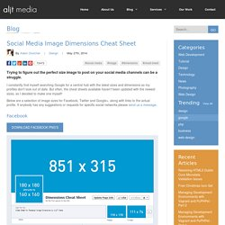 Social Media Image Dimensions Cheat Sheet