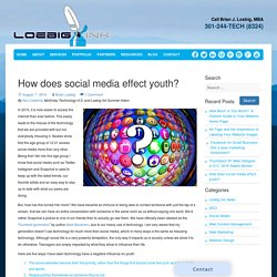 How does social media effect youth?