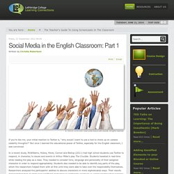 Social Media in the English Classroom: Part 1