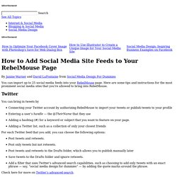 How to Add Social Media Site Feeds to Your RebelMouse Page
