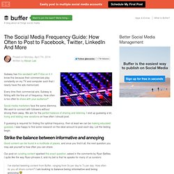 The Social Media Frequency Guide: How Often to Post