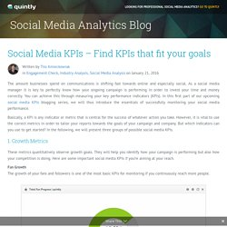 Social Media KPIs - Find KPIs that fit your goals - quintly Blog