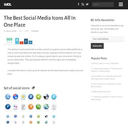 The Best Social Media Icons All In One Place