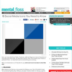mental_floss Blog » 18 Social Media Icons You Need to Know
