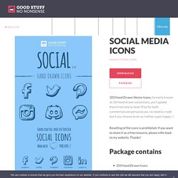 Social Media Icons - Good Stuff No Nonsense