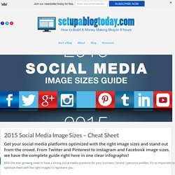 2015 Social Media Image Sizes Guide - Infographic