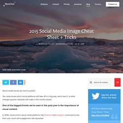 2015 Social Media Image Cheat Sheet + Tricks